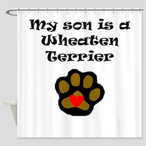 My Son Is A Wheaten Terrier Shower Curtain