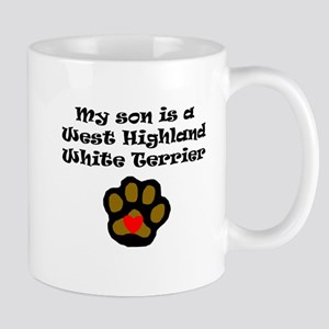 My Son Is A West Highland White Terrier Mugs