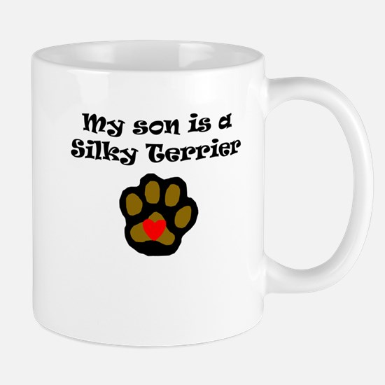 My Son Is A Silky Terrier Mugs