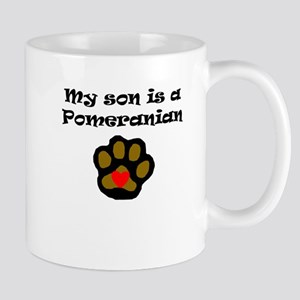 My Son Is A Pomeranian Mugs