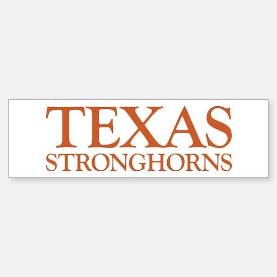 Texas Stronghorns Bumper Bumper Bumper Sticker