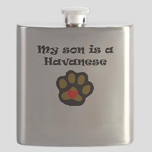 My Son Is A Havanese Flask