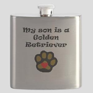 My Son Is A Golden Retriever Flask