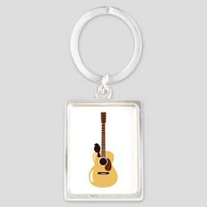 Acoustic Guitar and Bird Keychains