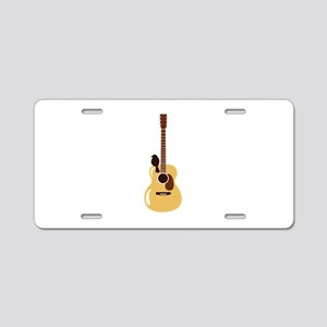 Acoustic Guitar and Bird Aluminum License Plate