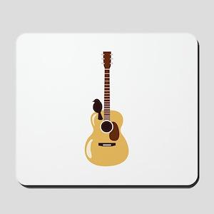 Acoustic Guitar and Bird Mousepad