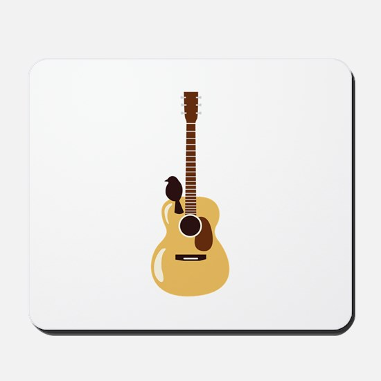 Acoustic Guitar and Bird Mousepad