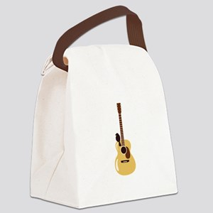 Acoustic Guitar and Bird Canvas Lunch Bag