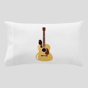 Acoustic Guitar and Bird Pillow Case