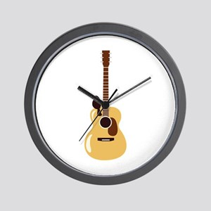 Acoustic Guitar and Bird Wall Clock