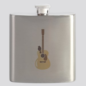 Acoustic Guitar and Bird Flask