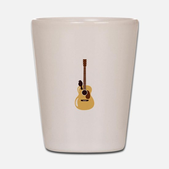 Acoustic Guitar and Bird Shot Glass