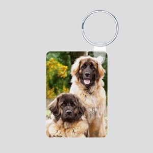 leonberger Aluminum Photo Keychain