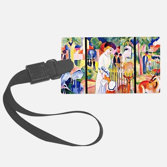 August Macke - Big Zoo, triptych Luggage Tag