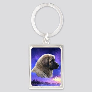 Leonberger Dogs Portrait Keychain