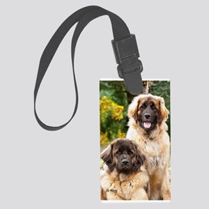 Leonberger Dogs Large Luggage Tag