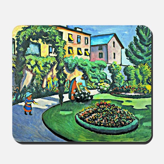 August Macke - Gartenbild Mousepad