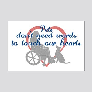 Pets Touch Heart Mini Poster Print