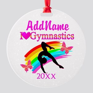 AWESOME GYMNAST Round Ornament