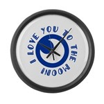 I love you to the moon Large Wall Clock