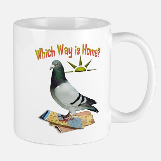 Which Way is Home? Fun Lost Pigeon Art Mugs