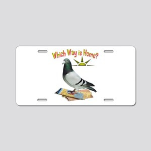 Which Way Is Home? Fun Lost Pigeon Art Aluminum Li