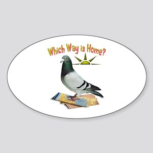 Which Way Is Home? Fun Lost Pigeon Art Sticker