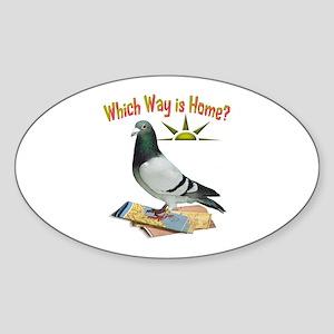 Fun Lost Pigeon Art Sticker
