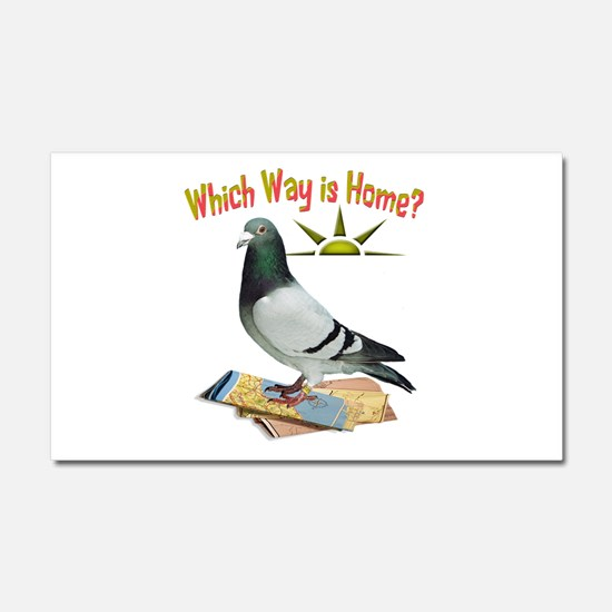 Which Way is Home? Fun Lost Pigeon Art Car Magnet
