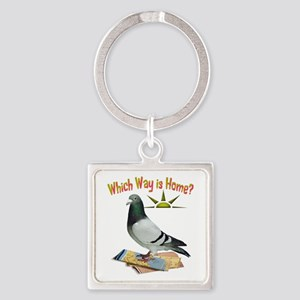 Which Way Is Home? Fun Lost Pigeon Art Keychains