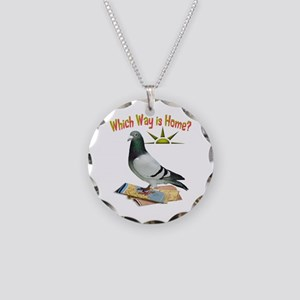 Which Way Is Home? Fun Lost Pigeon Art Necklace