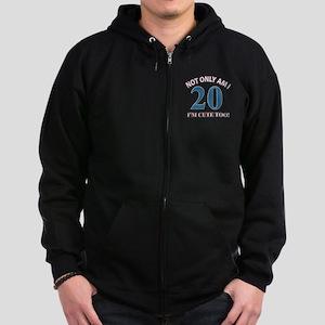 Cute 20 year old designs Zip Hoodie (dark)