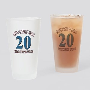 Cute 20 year old designs Drinking Glass