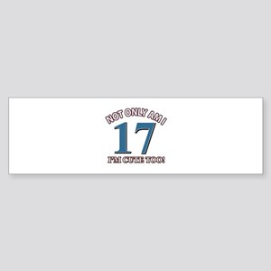 Cute 17 year old designs Sticker (Bumper)
