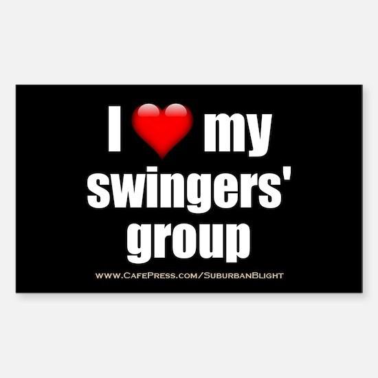 """Love My Swingers' Group"" Sticker (Rectangle)"