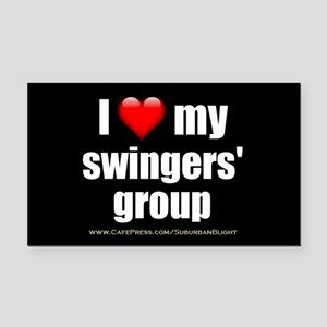 """""""Love My Swingers' Group"""" Rectangle Car Magnet"""