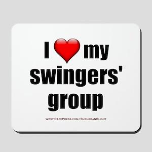 """Love My Swingers' Group"" Mousepad"