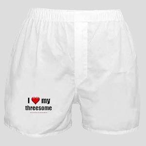 """Love My Threesome"" Boxer Shorts"