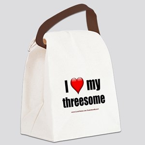 """Love My Threesome"" Canvas Lunch Bag"