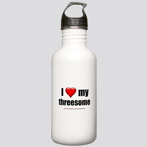"""Love My Threesome"" Stainless Water Bottle 1.0L"