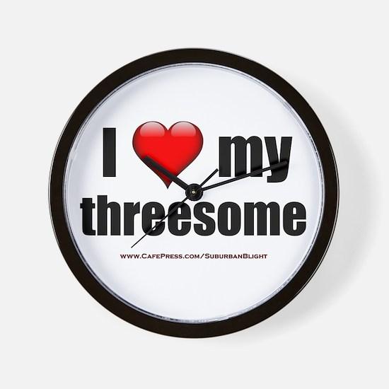 """Love My Threesome"" Wall Clock"