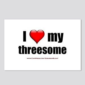 """""""Love My Threesome"""" Postcards (Package of 8)"""