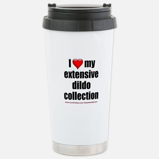 """""""I Love My Dildo Collection"""" Stainless Steel Trave"""