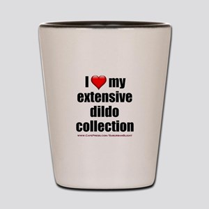 """I Love My Dildo Collection"" Shot Glass"