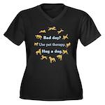 Bad Day Women's Plus Size V-Neck Dark T-Shirt