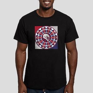 Lacrosse Shakey Dartboard Men's Fitted T-Shirt (da