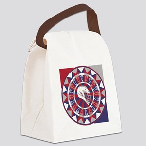 Lacrosse Shakey Dartboard Canvas Lunch Bag