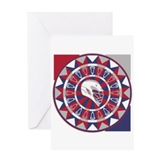 Lacrosse Shakey Dartboard Greeting Card