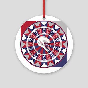 Lacrosse Shakey Dartboard Ornament (Round)