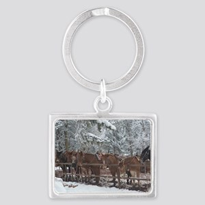 Stables at the Grand Canyon Landscape Keychain